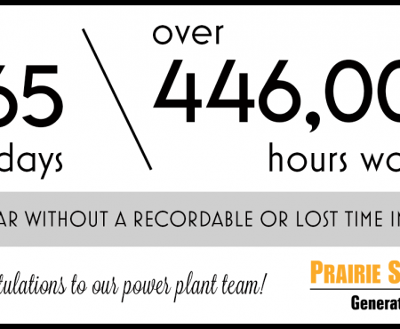 Prairie State Power Plant Celebrates Safety Milestone